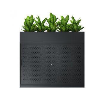 sliding-door-office-storage-with-planter